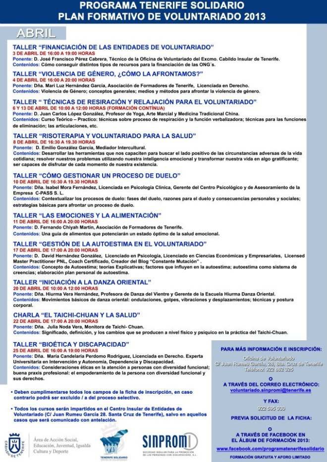 cartel cursos ABRIL